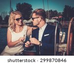 stylish wealthy couple on a...   Shutterstock . vector #299870846