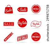 collection of sale stickers and ... | Shutterstock .eps vector #299871758