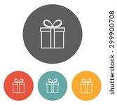 giftbox icon   Shutterstock .eps vector #299900708