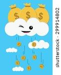 illustration of financial...   Shutterstock .eps vector #299914802
