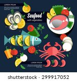 infographic food business... | Shutterstock .eps vector #299917052
