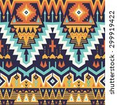 vector seamless tribal pattern. ... | Shutterstock .eps vector #299919422
