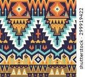 vector seamless tribal pattern. ... | Shutterstock .eps vector #299919422