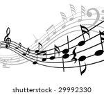 musical notes stuff vector... | Shutterstock .eps vector #29992330