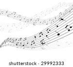 musical notes stuff vector... | Shutterstock .eps vector #29992333