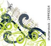 grunge style music background | Shutterstock .eps vector #29993314