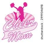 cheer mom design is an... | Shutterstock .eps vector #299934698