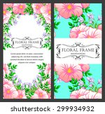 abstract flower background with ... | Shutterstock . vector #299934932