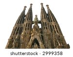 isolated sagrada familia church ... | Shutterstock . vector #2999358