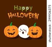 Vector Cute Happy Halloween...