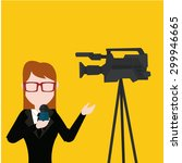 news or journalist illustration ... | Shutterstock .eps vector #299946665