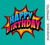 happy birthday background | Shutterstock .eps vector #299960702