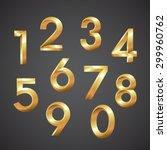 number gold vector | Shutterstock .eps vector #299960762