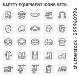 safety equipment and tool... | Shutterstock .eps vector #299960996