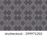 cloth embroidered motifs close | Shutterstock . vector #299971202