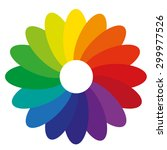 gradient flower color spectrum
