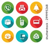 communication icons set. vector ... | Shutterstock .eps vector #299995268