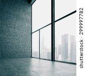 Loft Windows And The City. 3d...