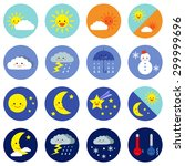 weather icons   vector eps 10... | Shutterstock .eps vector #299999696