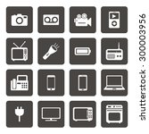 electronic device icons.... | Shutterstock .eps vector #300003956