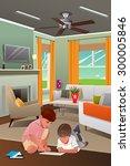 a vector illustration of little ... | Shutterstock .eps vector #300005846