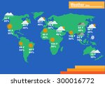 weather world map forecast...   Shutterstock .eps vector #300016772