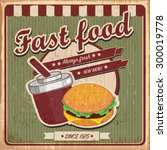 fast food poster | Shutterstock .eps vector #300019778