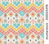 tribal art boho seamless... | Shutterstock .eps vector #300024398