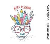 cute cartoon tea cup character... | Shutterstock .eps vector #300025892