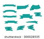 banner ribbons vector set   Shutterstock .eps vector #300028535