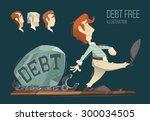 debt free freedom color vector... | Shutterstock .eps vector #300034505
