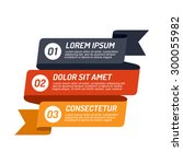 infographic ribbon design... | Shutterstock .eps vector #300055982