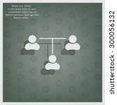 three people connected in a... | Shutterstock .eps vector #300056132