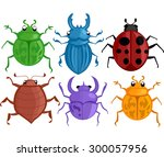 colorful illustration featuring ... | Shutterstock .eps vector #300057956