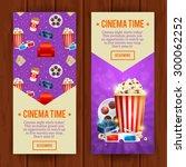 realistic cinema movie poster... | Shutterstock .eps vector #300062252