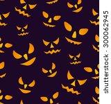 illustration halloween seamless ... | Shutterstock .eps vector #300062945