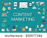 paper effect letters phrase... | Shutterstock .eps vector #300077186