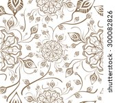 henna mehendi tattoo seamless...   Shutterstock .eps vector #300082826