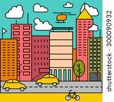 city modern vector illustration   Shutterstock .eps vector #300090932