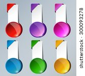 banners set with colorful  | Shutterstock .eps vector #300093278
