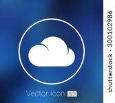 cloud icon sharing network bin... | Shutterstock .eps vector #300102986