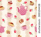 vector repeating pattern from... | Shutterstock .eps vector #300104438