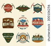 vector set of mountain... | Shutterstock .eps vector #300106256