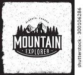 mountain explorer vintage... | Shutterstock .eps vector #300106286