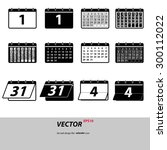 set calendar icon vector. flat...