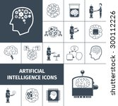 artificial intelligence and... | Shutterstock .eps vector #300112226