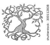 celtic tree of life ... | Shutterstock .eps vector #300112838