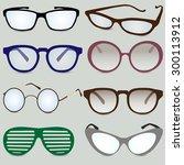 glasses vector set   Shutterstock .eps vector #300113912