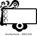Abstract Blank Space Text Box Design Illustration - stock vector