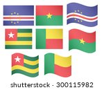 african flags 7 eps 10